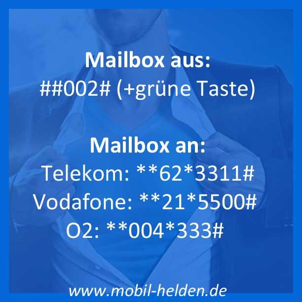 Prepaid Mailbox abschalten